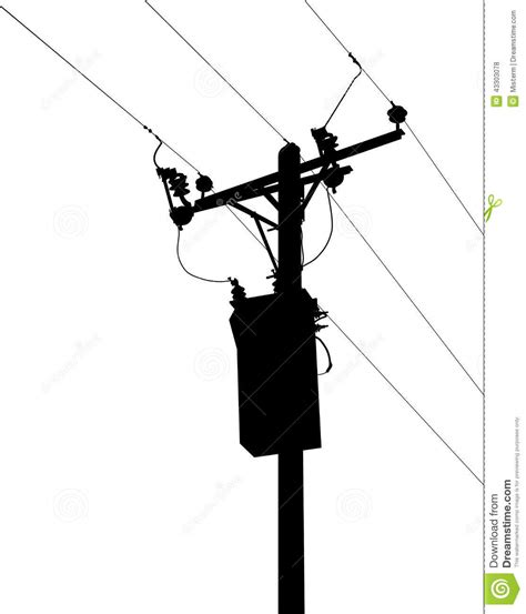stock photo power lines silhouette illustration image