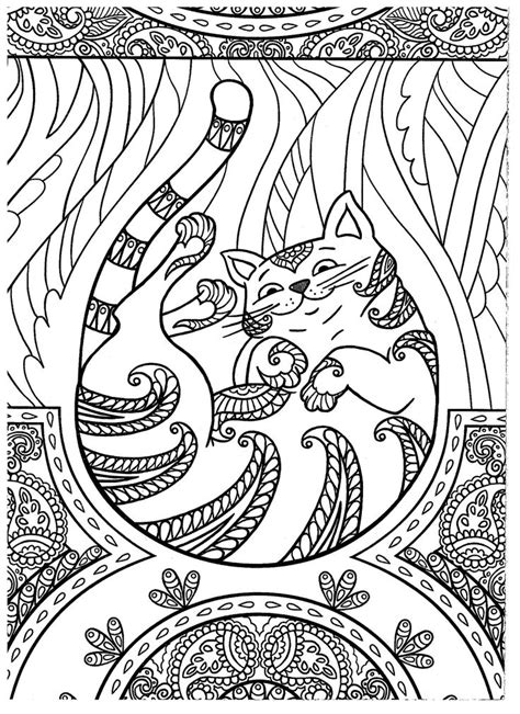 cat mandala coloring page 630 best adult colouring cats dogs zentangles images on