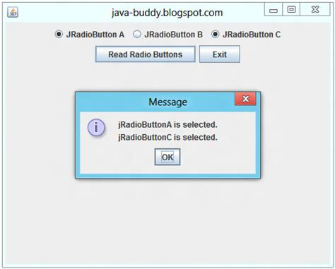 jradiobutton exle in java swing java buddy exle of using swing jradiobutton