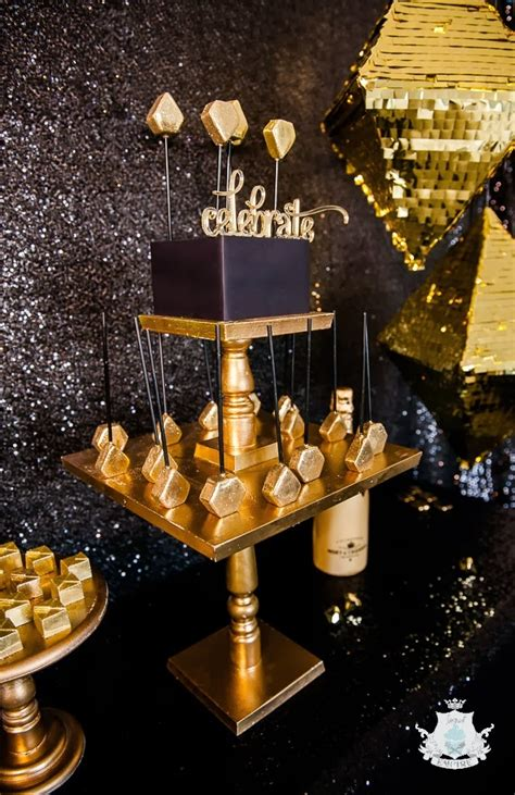 themes for all black parties little big company the blog a glistening gold geometric