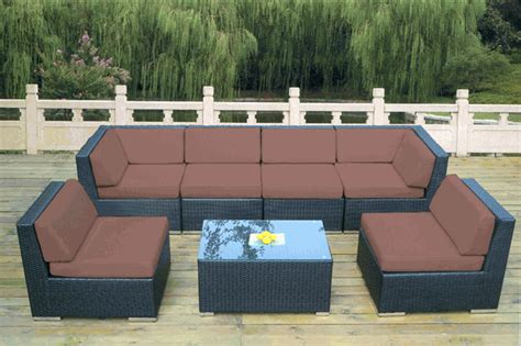 Ohana Patio by Beautiful Outdoor Patio Wicker Furniture Seating 7pc