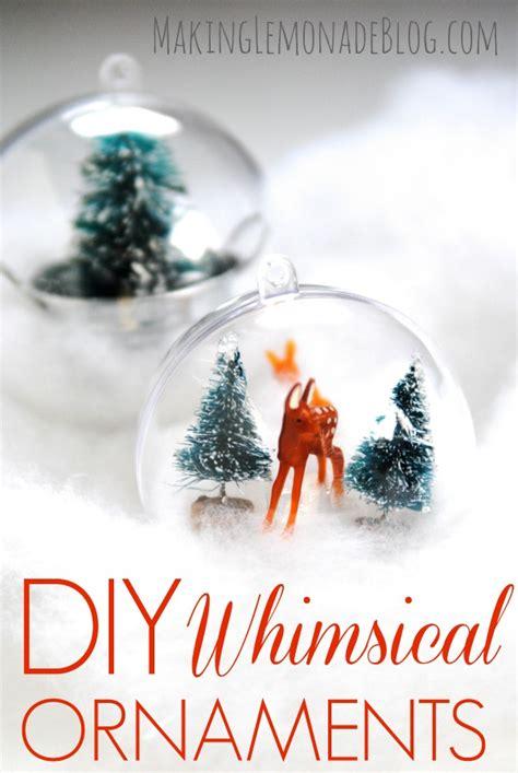 my ornaments diy whimsical woodland ornaments aka my come true