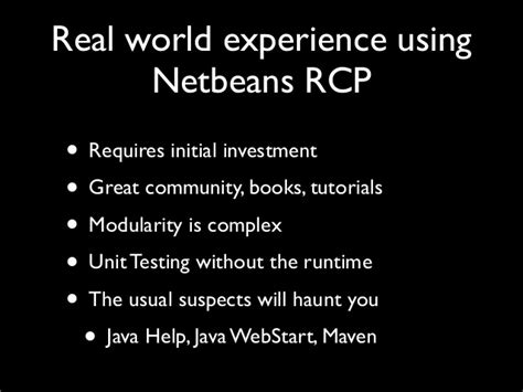 netbeans rcp tutorial building software using rich clients platforms rikard thulin