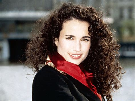 imágenes del curly hair days andie macdowell in her younger years as model google