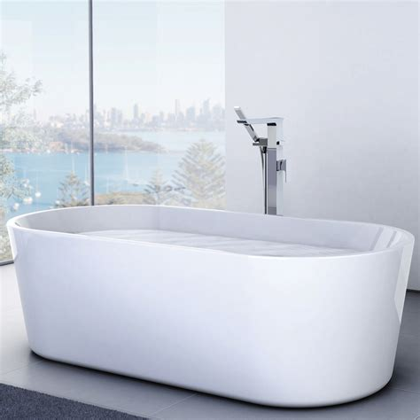 caroma aura freestanding bath mm thrifty plumbing
