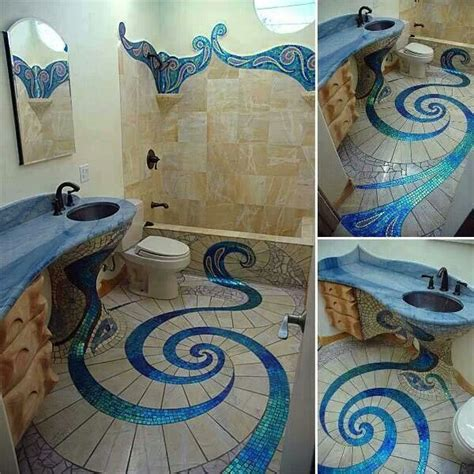 the little mermaid bathroom mermaid style bathroom tile bathrooms pinterest