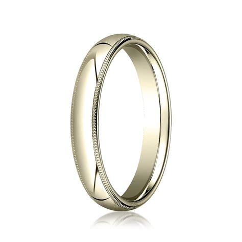 milgrain 4mm wedding ring in 10k yellow gold