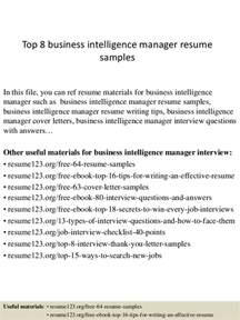 Bi Manager Cover Letter by Top 8 Business Intelligence Manager Resume Sles