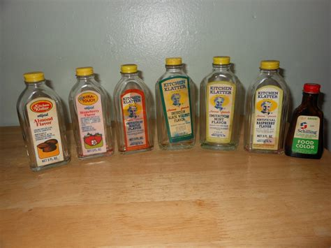 vintage kitchen klatter bottles others set of 7