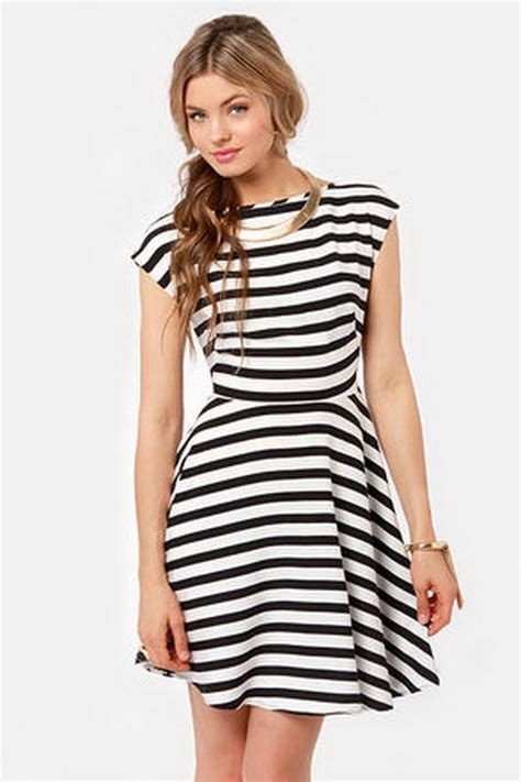 Dress Black White Stripes black and white striped dresses