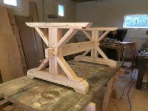 Diy Table L Kit Farmhouse Trestle Table Diy Kit By Lakeshorehnh On Etsy