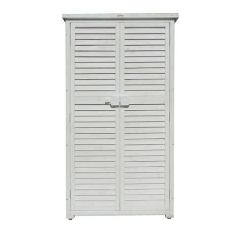armadio da esterno armadio da esterno 87x47x160 solido bianco di jarsya