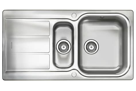 leisure glendale 1 bowl sink sinks kitchen accessories glendale stainless steel rangemaster reversible sink 1 5
