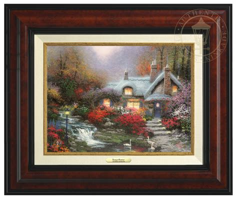 Kinkade Cottage Collection by Evening At Swanbrooke Cottage Canvas Classic The
