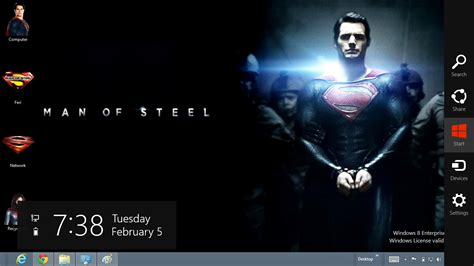 themes for windows 7 superman download gratis tema windows 7 superman man of steel 2013