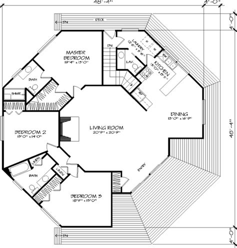 Hexagon Home Plans by Hexagonal House Plans House Design Plans