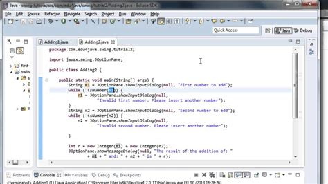 User Interface Input Data Validation Java Swing Video