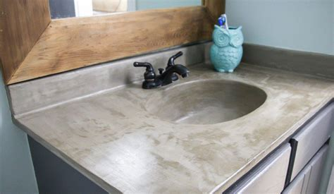 diy concrete bathroom sink learn how our diy concrete vanity is holding up 18 months