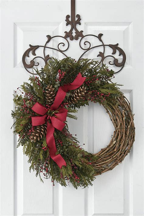 festive garland wreath coldwater creek