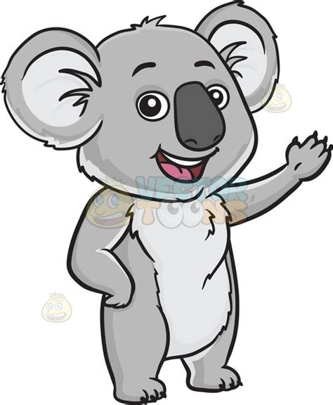 koala clip a friendly koala clipart vector