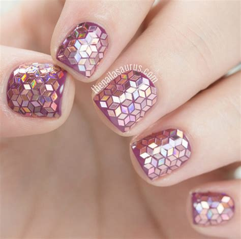 trendy glitter nail art design ideas  rock
