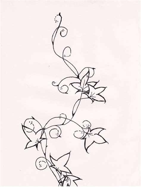 ivy wrist tattoo designs drawings top by iluvdevilschild