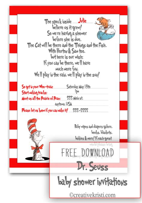 dr seuss baby shower invites template best template