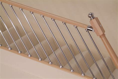 Chrome Banister Rails by Axxys Chrome Spindles Rake 6pk Axxys Chrome Staircase