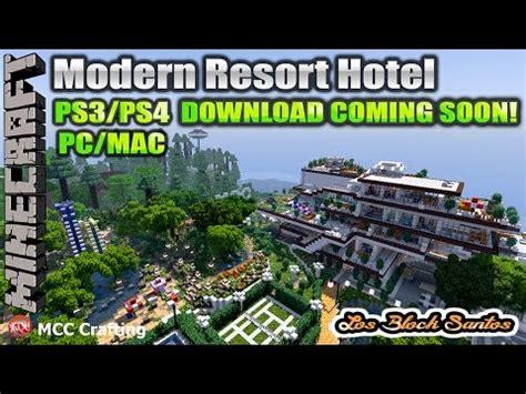 minecraft modern resort hotel amusement water park yacht