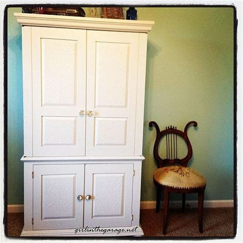Tv Armoire Makeover by Drab To Fab Armoire Makeover