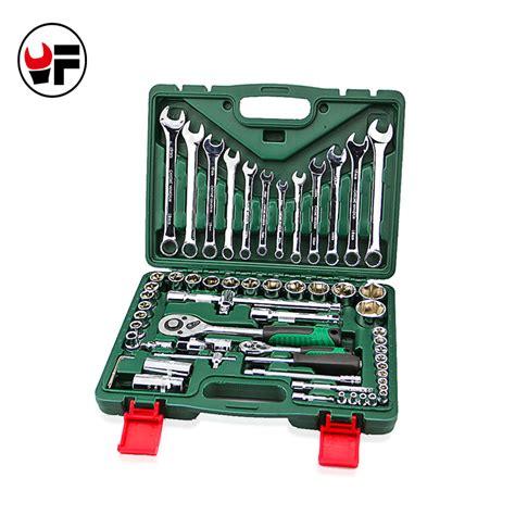 Dijamin Socket Wrench Set 10 Pcs Kenmaster 61pcs torque socket wrench set with ratchet spanners llave carraca 1 4 tools universal