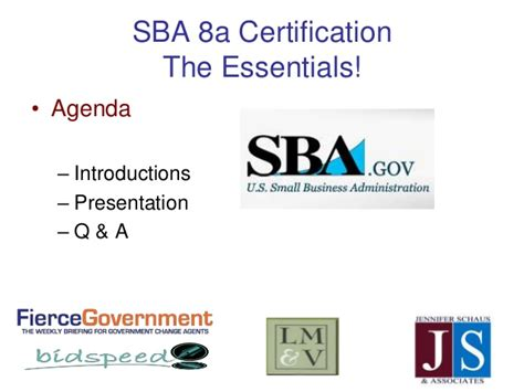 section 8a sba 8a small business certification