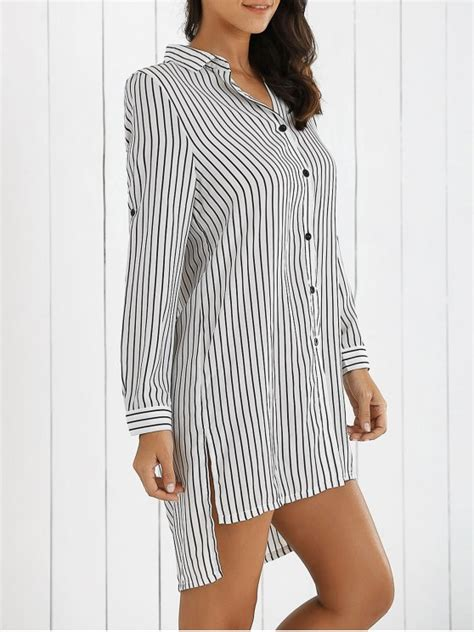Boyfriend Striped Dress boyfriend striped shirt dress white sleeve dresses