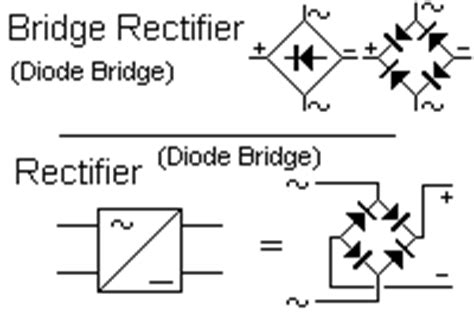 diode bridge rectifier symbol circuit symbols