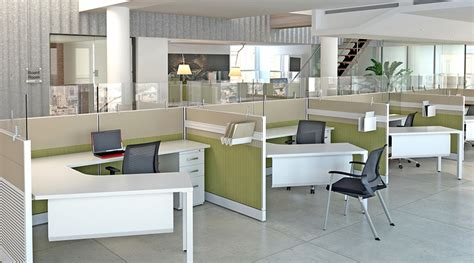 escritorio qatar sp modern cubicles with segmented tile panels with acoustical