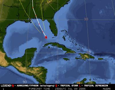 hurricane dennis heads for gulf coast leaves trail of