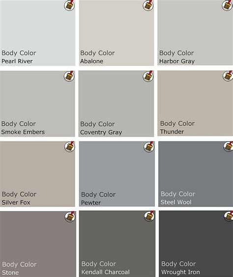 great paint color choices for different hues by a benjamin pro white grey etc