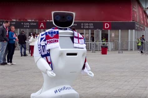 Pelindung Wajah Sepak Bola rusia ciptakan robot pelindung penonton piala dunia