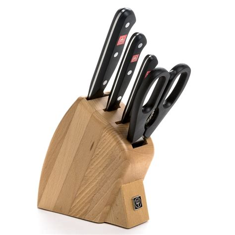 wusthof gourmet 5 piece studio knife set wusthof gourmet studio knife block set 5 piece 6656t