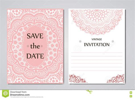 wedding card collection template of invitation card