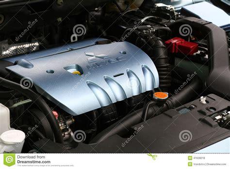 mitsubishi motors stock symbol mitsubishi mivec lancer engine top editorial stock photo