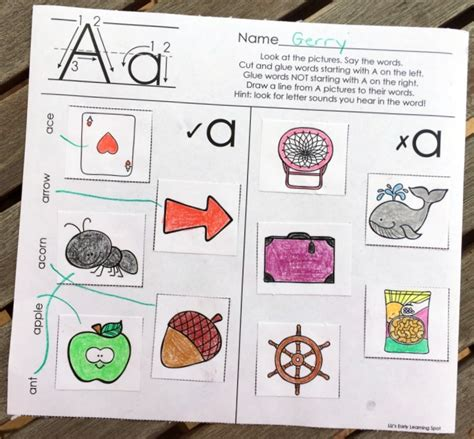 Research Based Letter Sound Interventions The Alphabet Beginning Sounds Picture Sorts Liz S Early Learning Spot