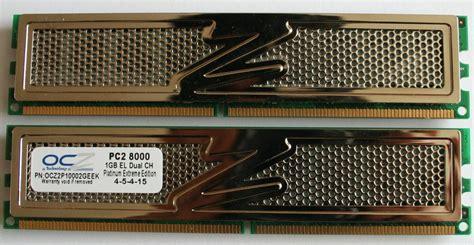 Ram Ocz review ocz technology ddr2 pc2 8000 platinum xtc