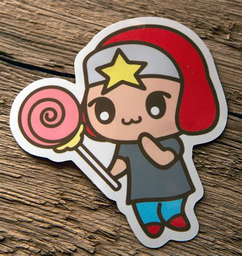 Stiker Logo Anime Vinly Glossy glossy coated die cut anime design sticker 183 stickersthatstick
