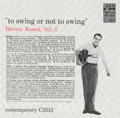 Vol 3 To Swing Or Not To Swing Barney Kessel Songs