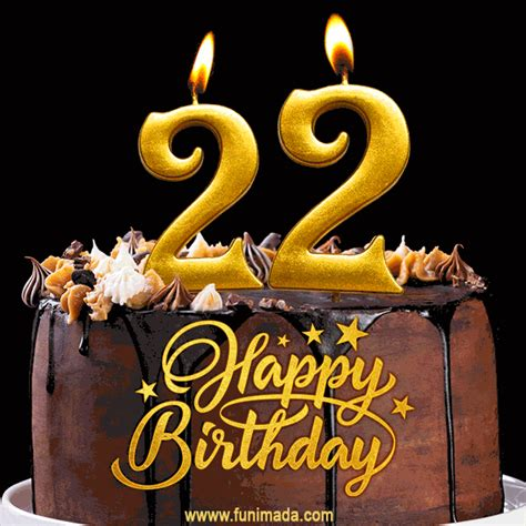 birthday chocolate cake  gold glitter number  candles gif   funimadacom