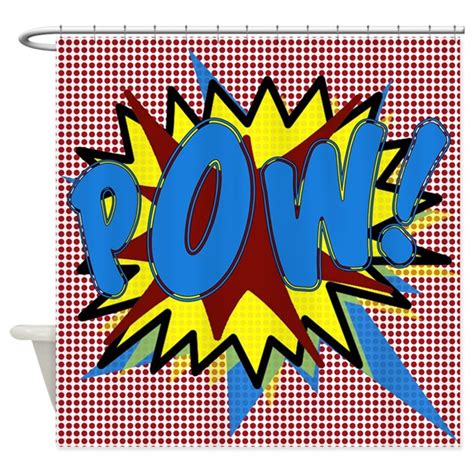 superhero shower curtain pow superhero explosion shower curtain by walela