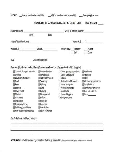 counselling referral form template lovely referral form template images documentation