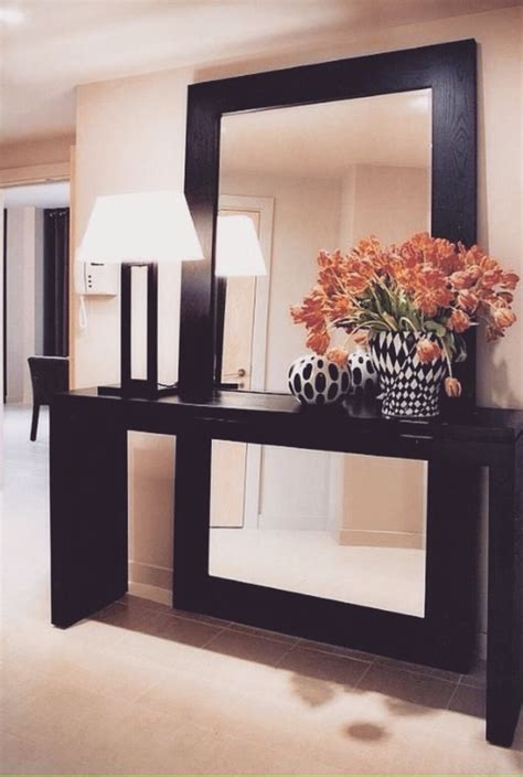 decorate  oversized mirrors  mirror tables