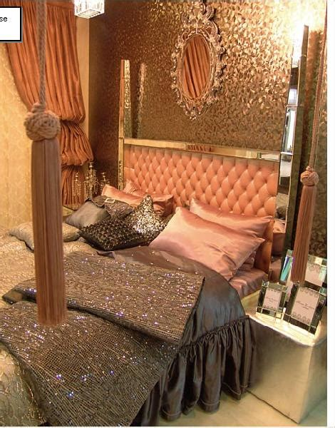 paris hilton bedroom metallic gold bronze fabulousness design indulgences